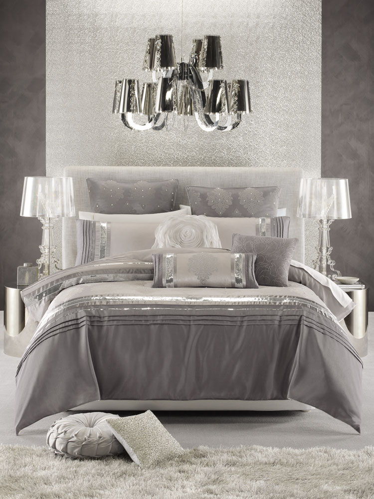Home glam decor on pinterest vanity tray glamorous for Bedroom ideas silver