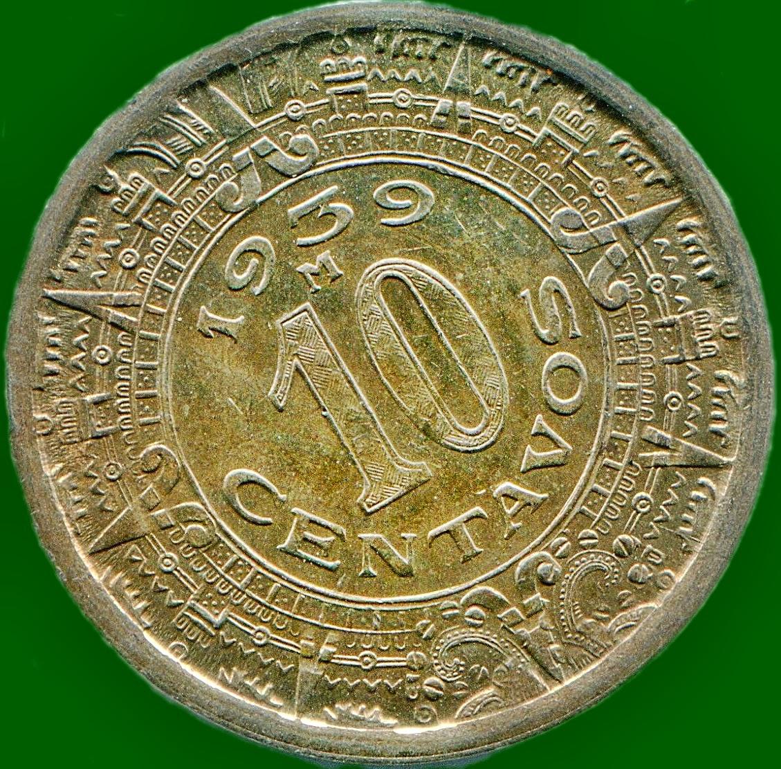 Monedas de 10 Centavos Mexico México 10 Centavos de 1939