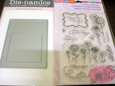 My Favorite Things Die-namics Die - InstaFrame, and  Stampendous Clear Stamp - Buzzin' Blooms