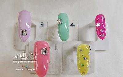 star glitter nail art