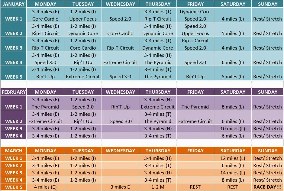 Insanity Workout Schedule Month 3 I made my own running schedule