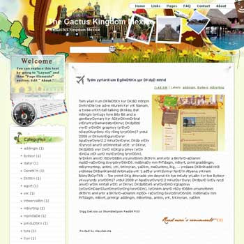 The Cactus Kingdom Mexico Blogger Template. beautifull template blogger