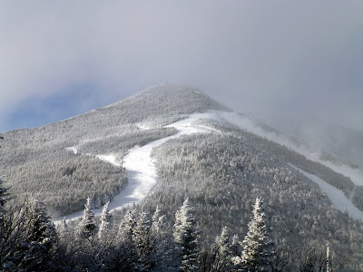 A brief view of Whiteface's summit on MLK Day, 01/20/2014.  The Saratoga Skier and Hiker, first-hand accounts of adventures in the Adirondacks and beyond, and Gore Mountain ski blog.