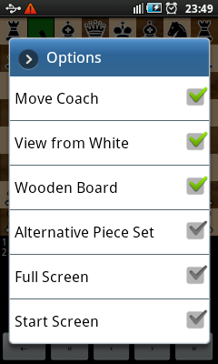 Android Chess - Options