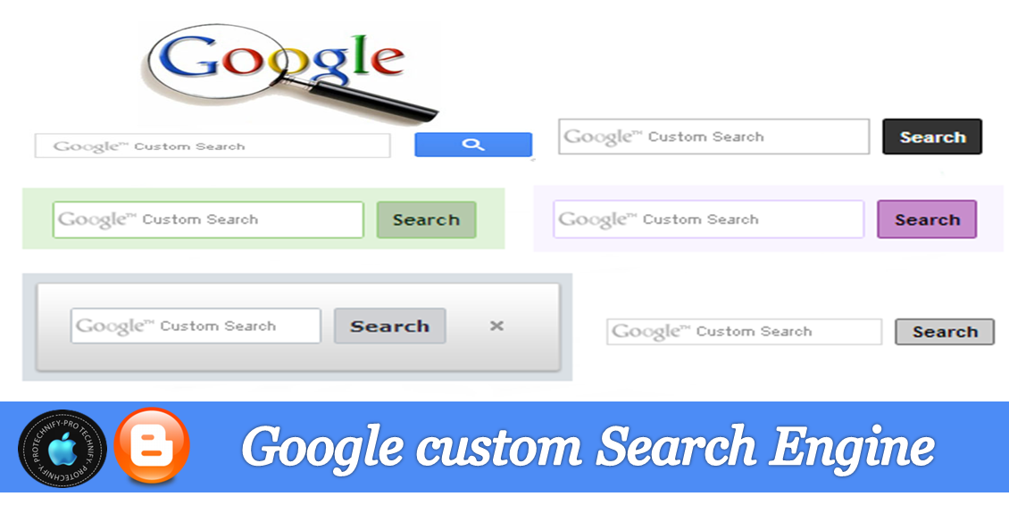 Google custom search engine blogger, Google custom search box