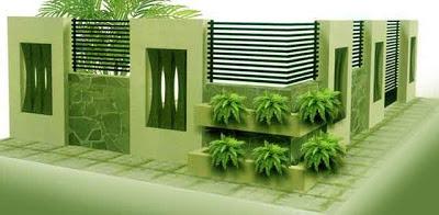 Desain Pagar Rumah Mewah Minimalis 05