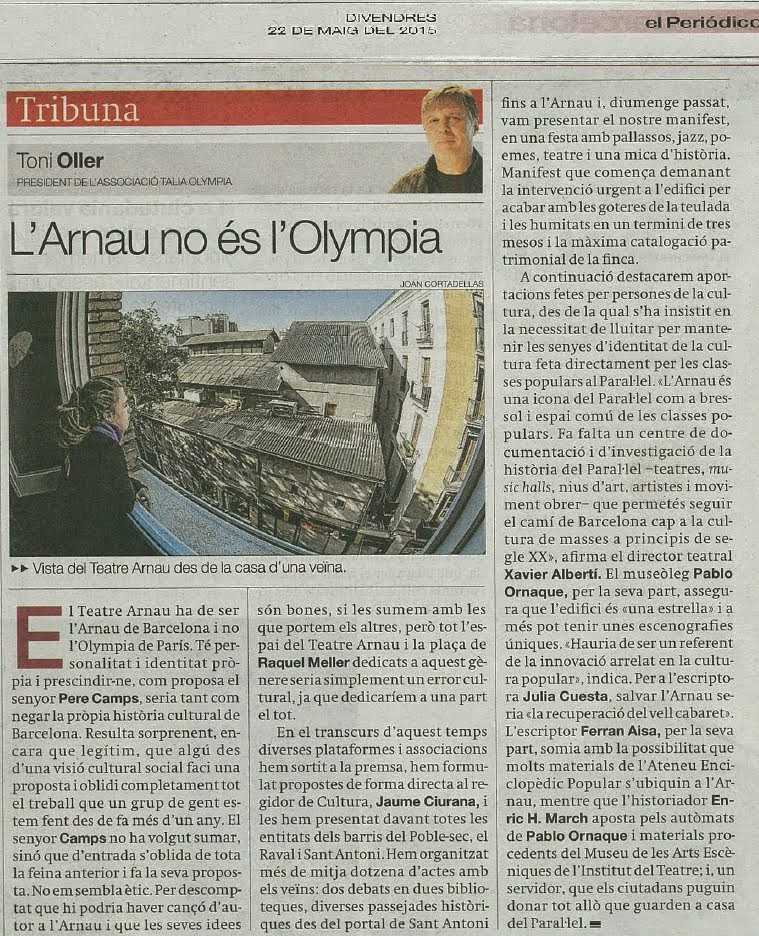L'Arnau no és l'Olympia