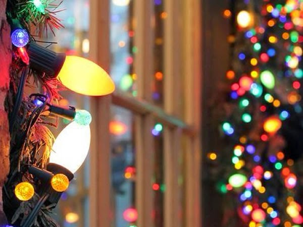 decoración de Navidad con luces