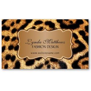 Business card showcase by socialite designs leopard print business leopard print business cards colourmoves