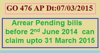 GO 476 Arrears and other claims before 2nd June 2014 can claim up to 31 March 2015