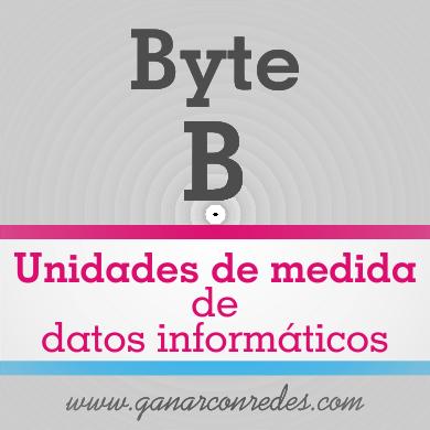 Byte (B) | Unidades de medida de datos informáticos