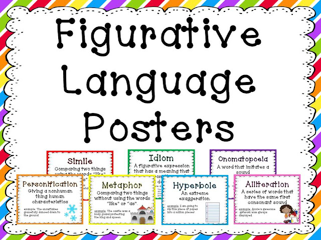 Middle Grades Maven: Figurative Language Posters and Super Words Revamped