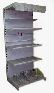 Фото общий вид торгового металлического стеллажа