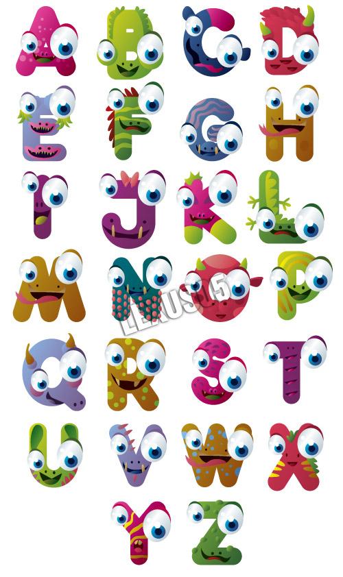 Tout ce que vous voudrez... - Page 2 Monster-alphabet