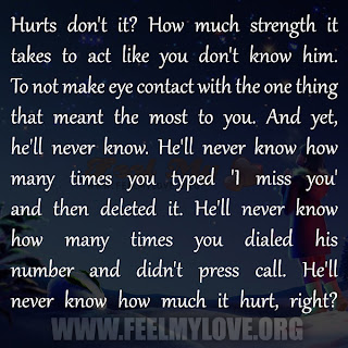 Hurts don't it? How much strength it takes to act