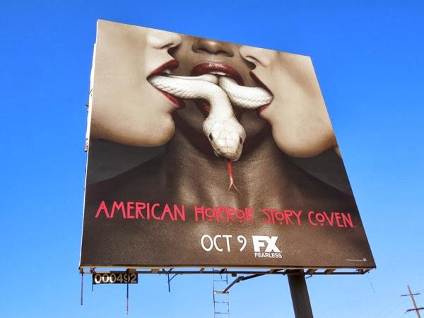 American Horror Story Coven snake billboard