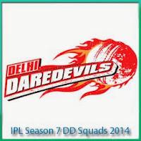 IPL Season 7 Delhi Daredevils Match Schedule and IPL 7 DD Squads List