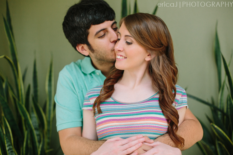 guy kissing girl on cheek