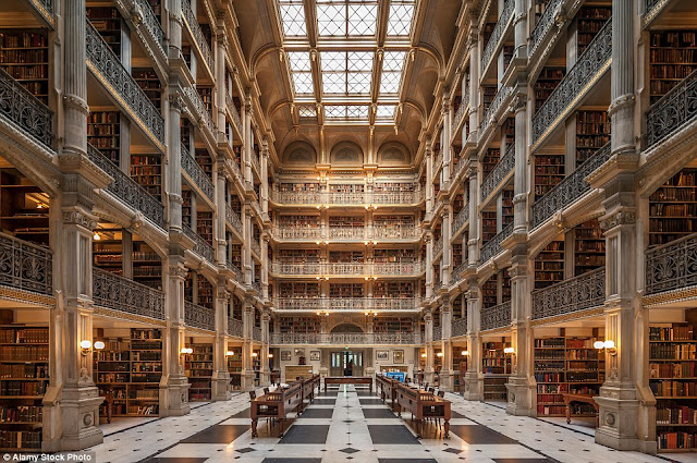 The George Peabody Library en Baltimore