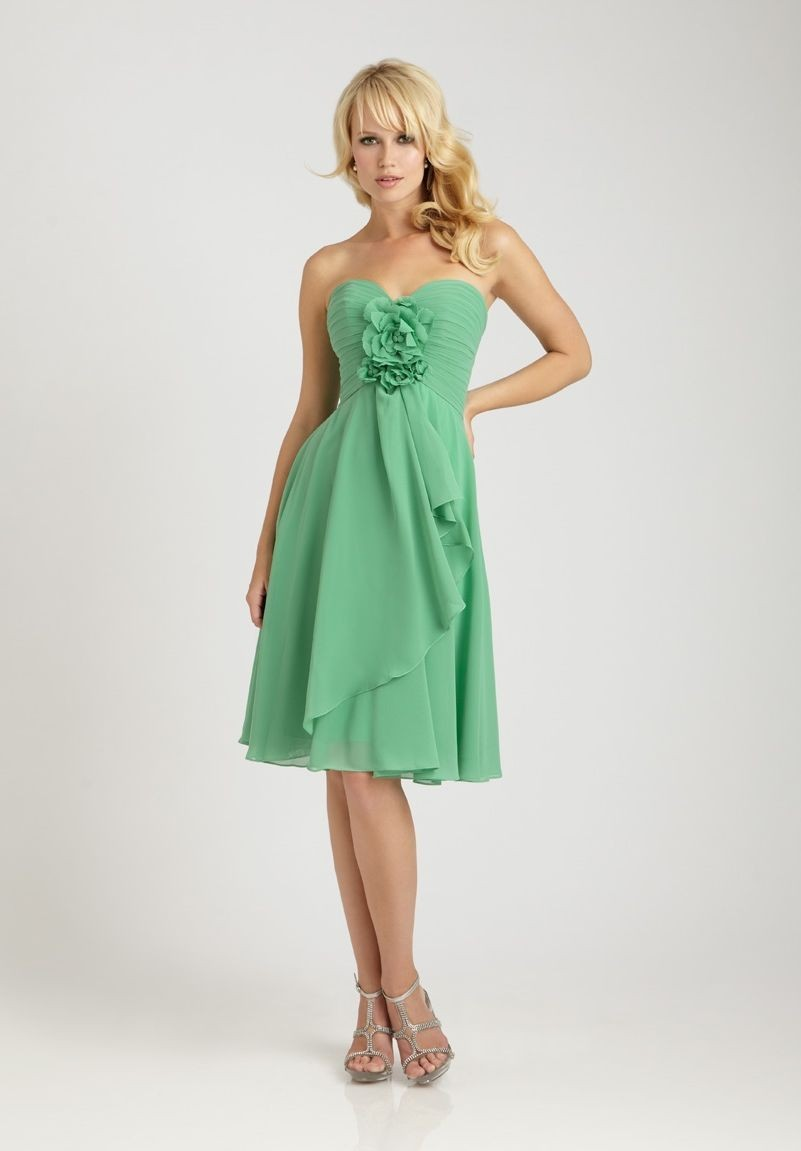 Whiteazalea bridesmaid dresses green bridesmaid dresses for Short green wedding dresses