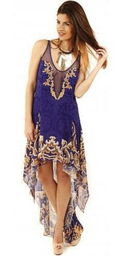 Party 21 dress designer laser chain print waterfall mesh for Waterfall design dress