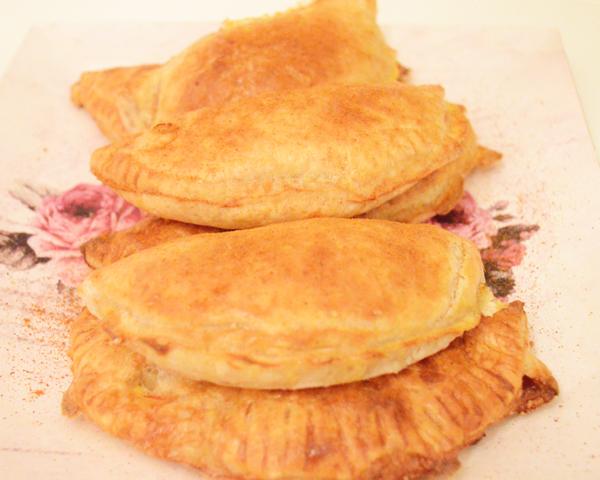 tortilla puff pastry half moons