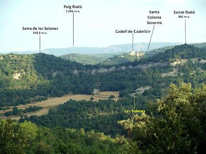 Panoràmica cap al nord-oest des de l'ermita de Barnils