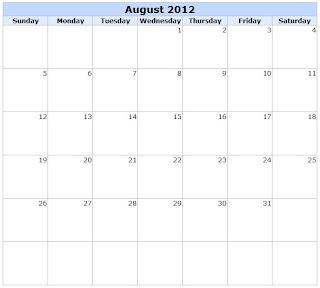 free-printable august calendar 2012