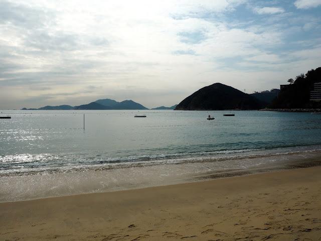 Sun, sand, and sea on Repulse Bay Beach, Hong Kong