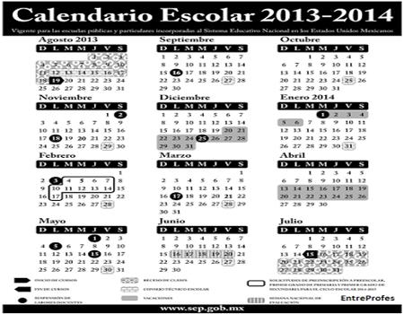 Propuesta nuevo calendario escolar 2013-14, Ciclo escolar SEP ...