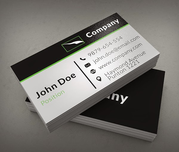 Clean Corporate Business Card Template Freebies Psd