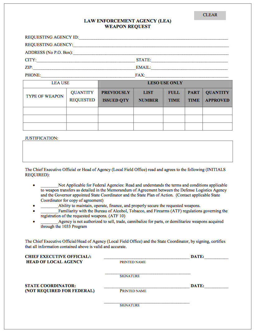 Viable Opposition The Militarization of Americas Local Police Forces – Recruitment Request Form
