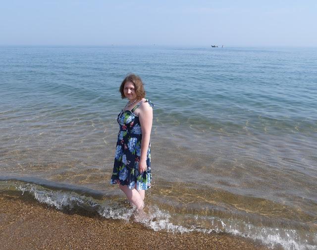 Girl in Dress in the Sea