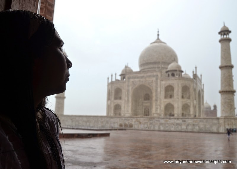 rain at Taj Mahal