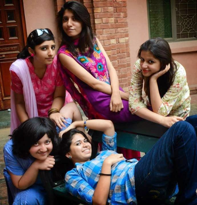 Girls In Hostel Making Pose