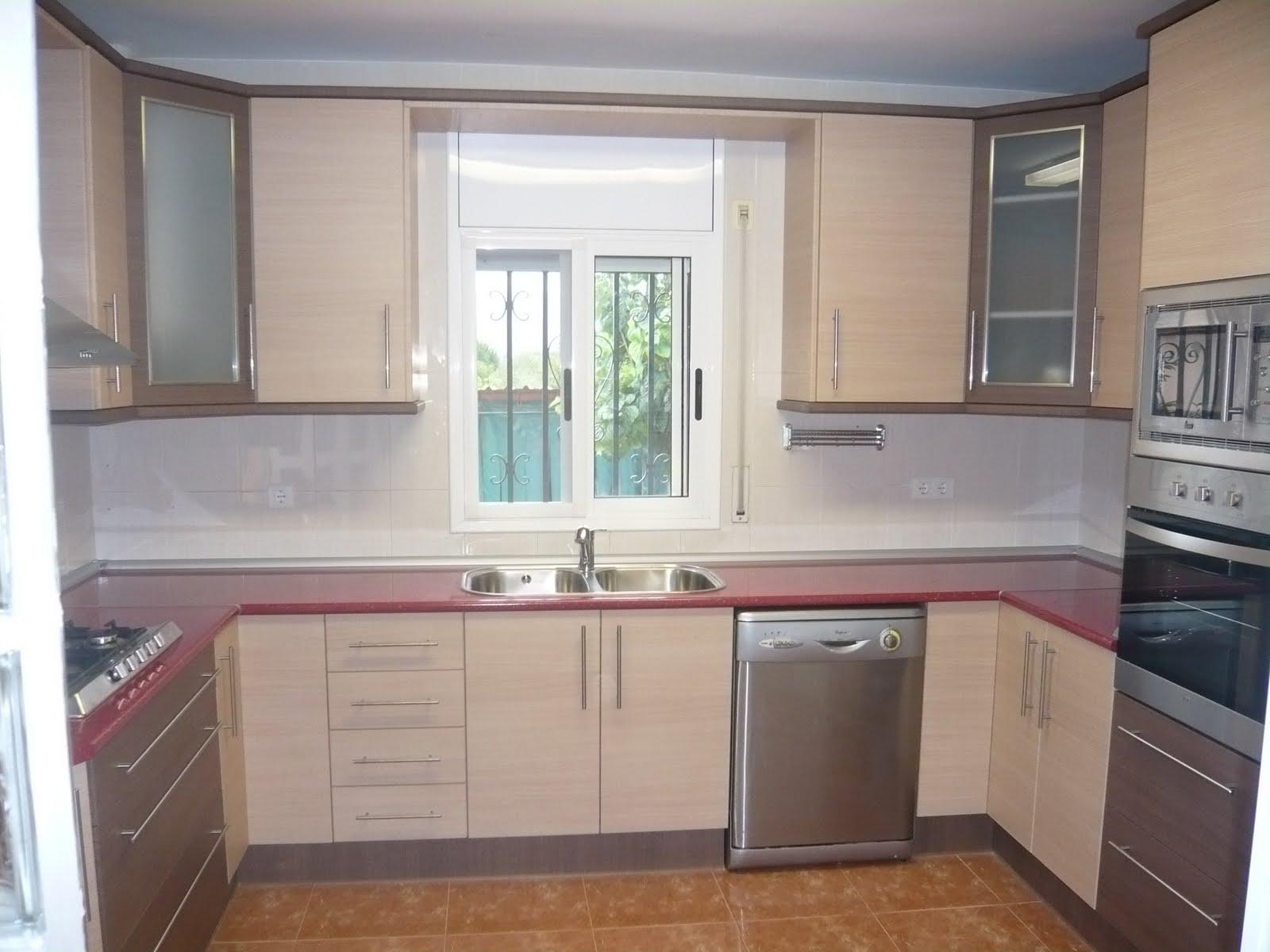 Reuscuina cocina de formica en color roble combinada - Cocinas color roble ...