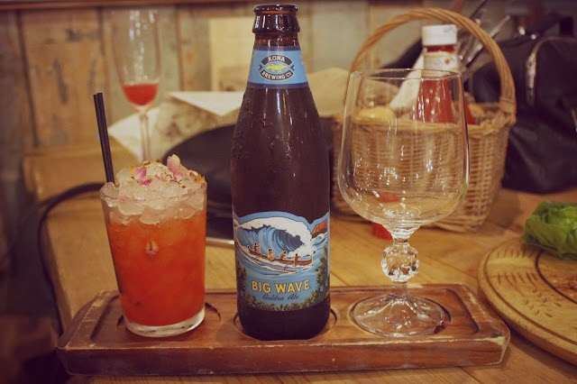 big wave beer with cocktail chaser