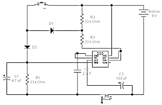 2 Tones Doorbel Schematic with IC555