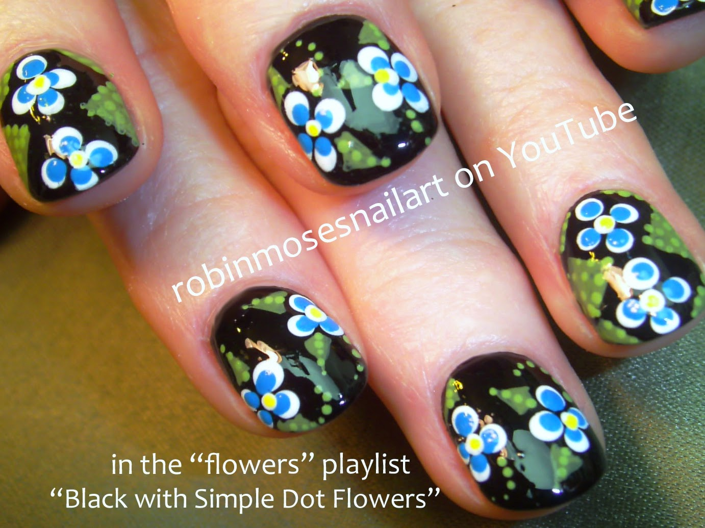 Simple Nail Art simple nail art flowers : Robin Moses Nail Art: