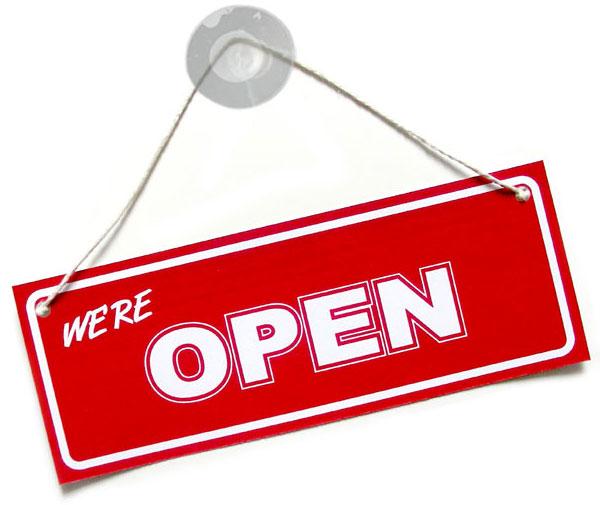 Open everyday