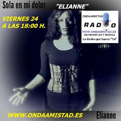 """ELIANNE "" ENTREVISTADA EN ONDAAMISTAD RADIO"