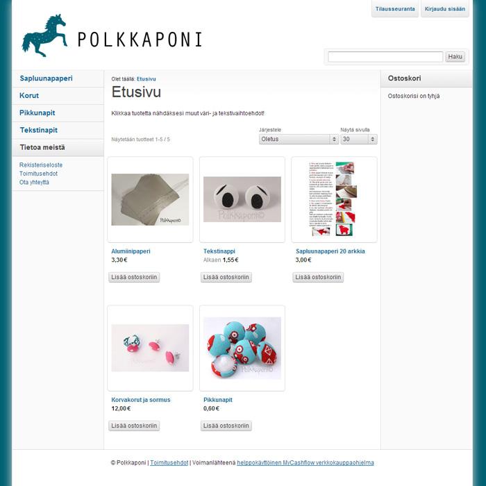 Polkkaponin kauppa - Polkapony shop