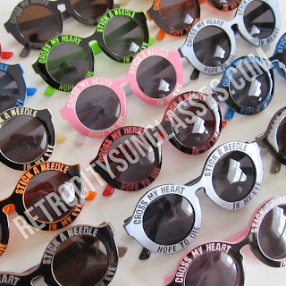 Round Cross My Heart Sunglasses