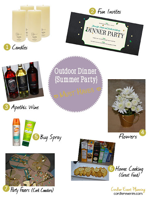 Outdoor Dinner Party Must-Haves List 2013 | Cordier Event Planning