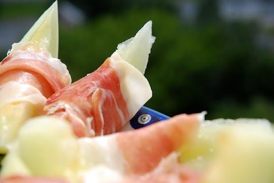 Melon w szynce parmeńskiej