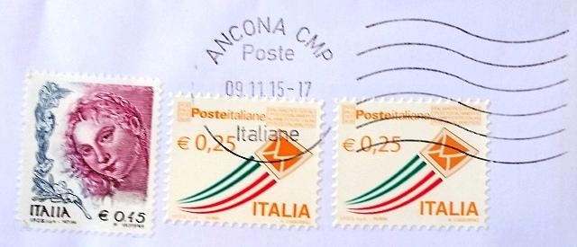 francobollo poste italiane 0,25