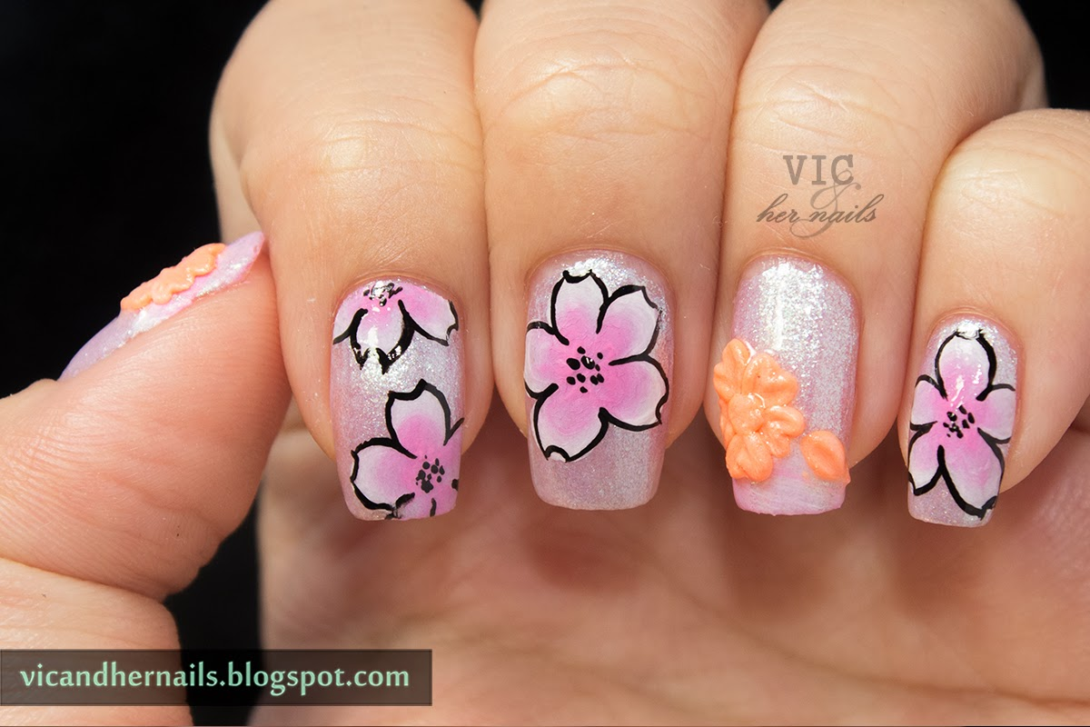 Vic and Her Nails: March N.A.I.L. - Theme 4 - Spring Flowers