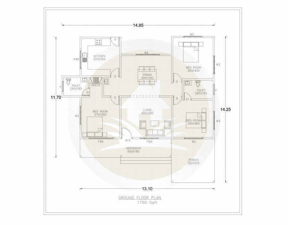 1750 sq ft single floor home design download free floor - Floor plan designer free download ...