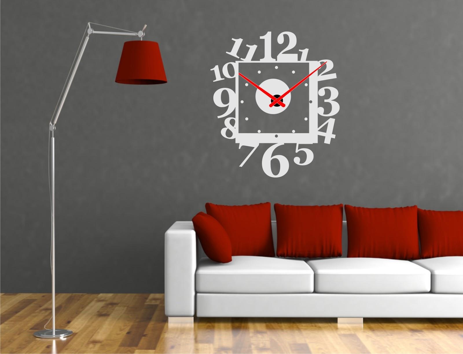 Relojesyvinilos reloj de pared cuadrado moderno - Reloj de pared moderno ...
