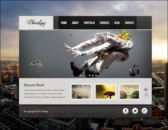 Overlay - Creative Wordpress Vcard